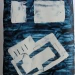 prussianBlueFloorPlan (tripartite) (2016) acrylic on paper (56 x 42 cm)_web