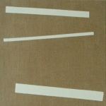 gesso1 (no one owns the line) (2010)  gesso on linen (50 x 50 cm)